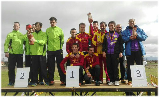 Tercera posición por equipos en el Campeonato de cross de Veteranos de Castilla y León