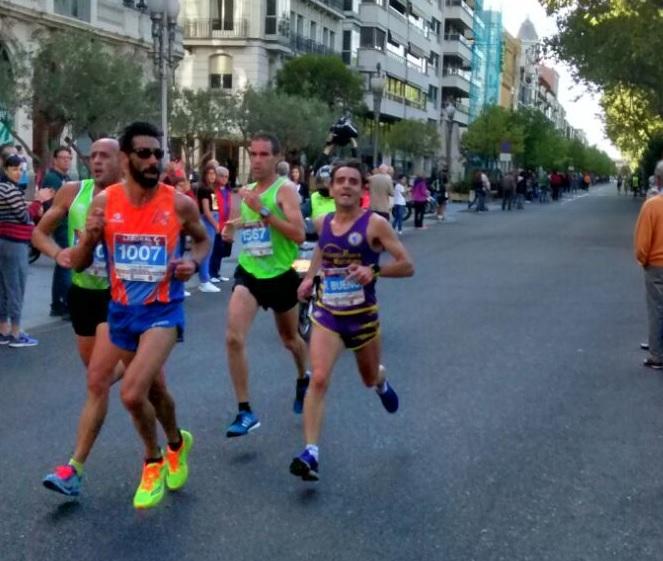 Roberto en la media maratón 2016
