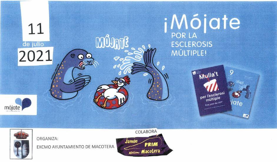 Cartel Mójate por la Esclerosis Múltiple en Macotera